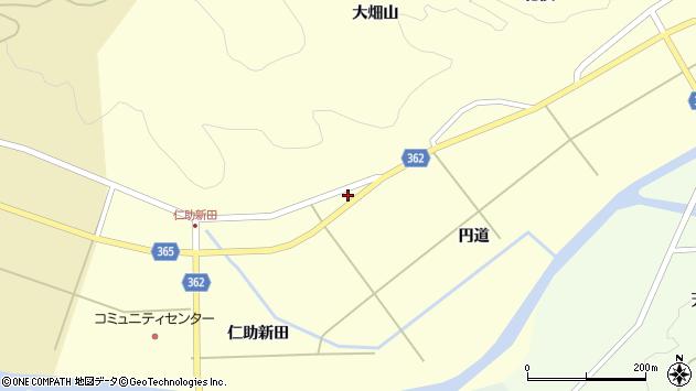 山形県酒田市北俣円道74周辺の地図