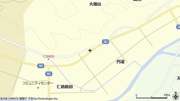 山形県酒田市北俣円道73周辺の地図