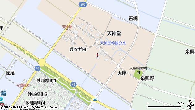 山形県酒田市天神堂8周辺の地図