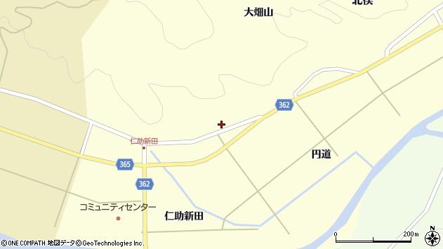 山形県酒田市北俣円道59周辺の地図
