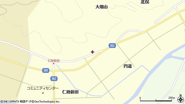 山形県酒田市北俣円道周辺の地図