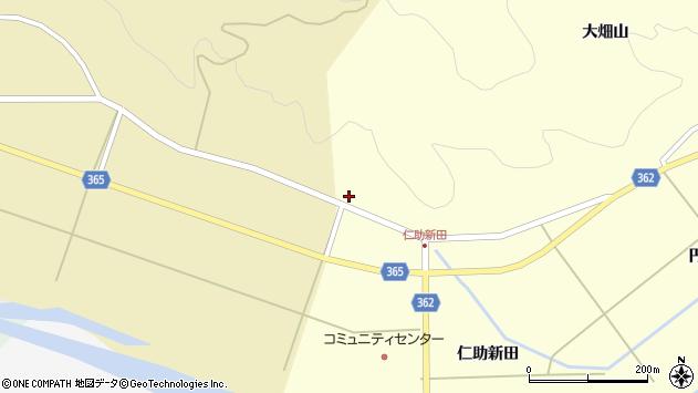 山形県酒田市北俣大畑山106周辺の地図