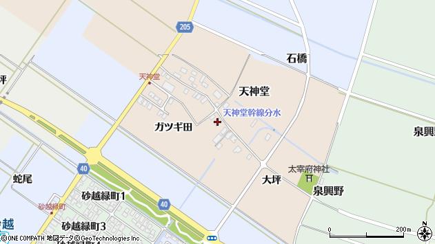 山形県酒田市天神堂14周辺の地図