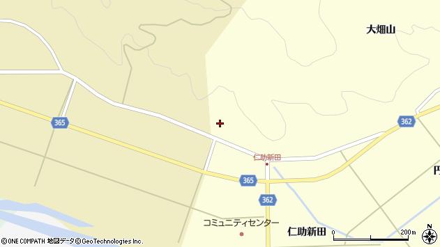 山形県酒田市北俣大畑山108周辺の地図