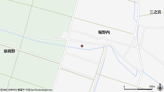 山形県酒田市堀野内74周辺の地図