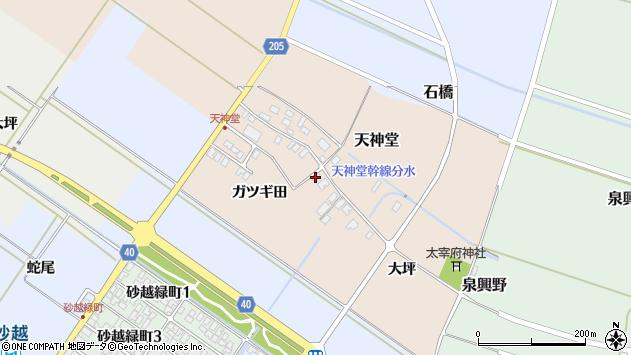 山形県酒田市天神堂15周辺の地図