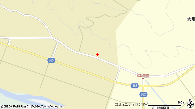 山形県酒田市山谷滝谷6周辺の地図