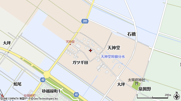 山形県酒田市天神堂18周辺の地図