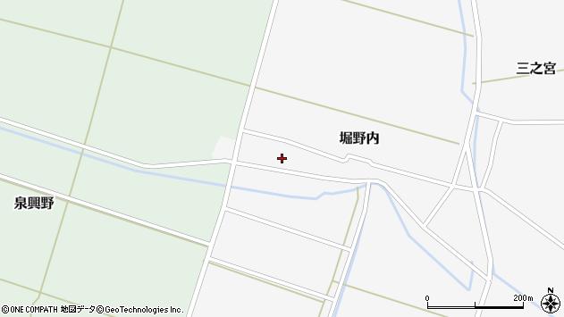 山形県酒田市堀野内25周辺の地図