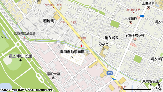 山形県酒田市若原町5周辺の地図