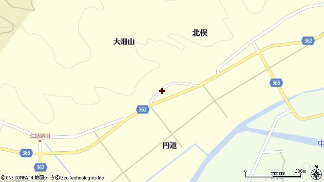 山形県酒田市北俣円道30周辺の地図