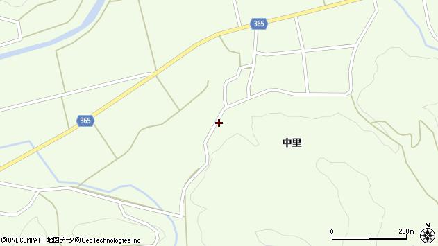 山形県酒田市中野俣中里102周辺の地図