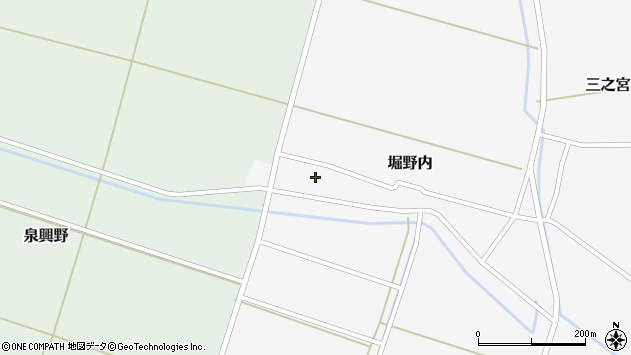 山形県酒田市堀野内32周辺の地図