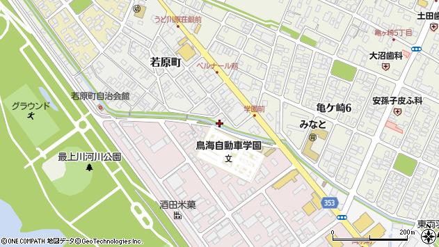 山形県酒田市若原町6周辺の地図