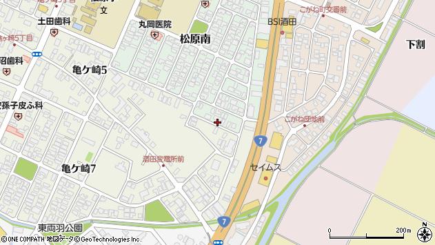 山形県酒田市松原南23周辺の地図