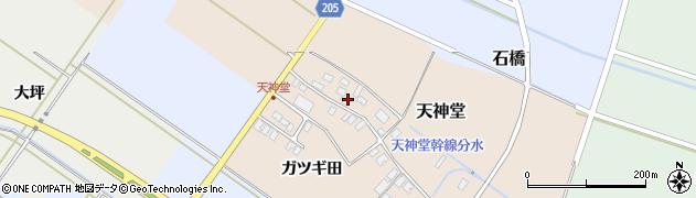 山形県酒田市天神堂39周辺の地図