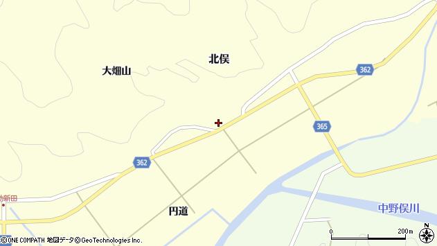 山形県酒田市北俣大畑山4周辺の地図