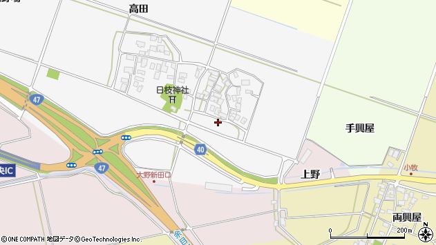 山形県酒田市大野新田村南51周辺の地図