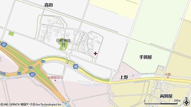 山形県酒田市大野新田村南27周辺の地図