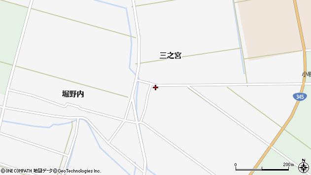 山形県酒田市三之宮38周辺の地図
