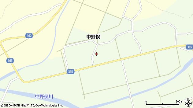 山形県酒田市中野俣備畑前122周辺の地図
