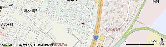 山形県酒田市松原南22周辺の地図