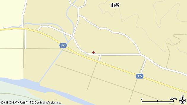 山形県酒田市山谷中川原周辺の地図