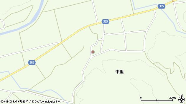 山形県酒田市中野俣中里89周辺の地図