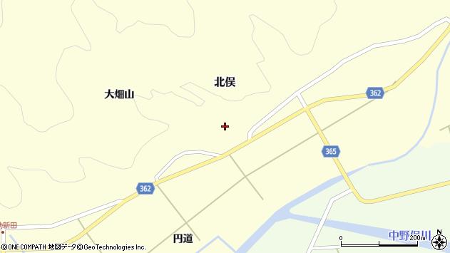 山形県酒田市北俣大畑山2周辺の地図