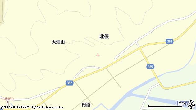 山形県酒田市北俣大畑山10周辺の地図