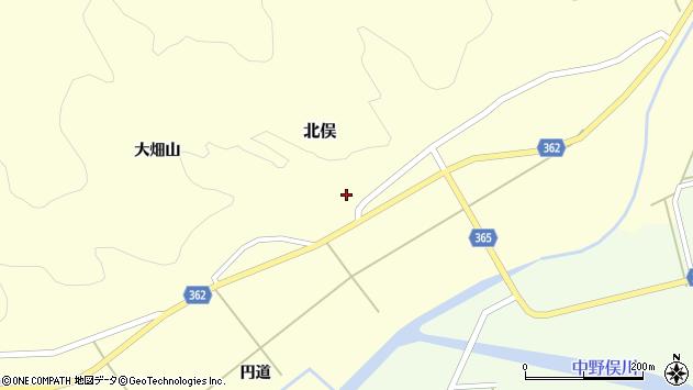 山形県酒田市北俣大畑山1周辺の地図