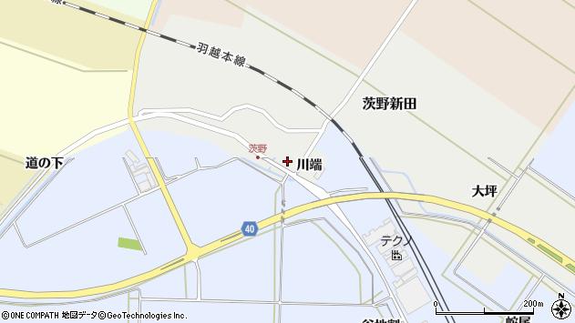 山形県酒田市茨野新田21周辺の地図
