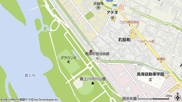 山形県酒田市若原町16周辺の地図