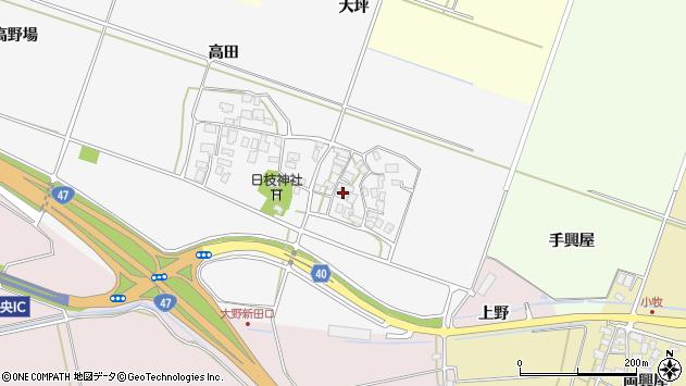 山形県酒田市大野新田村南周辺の地図