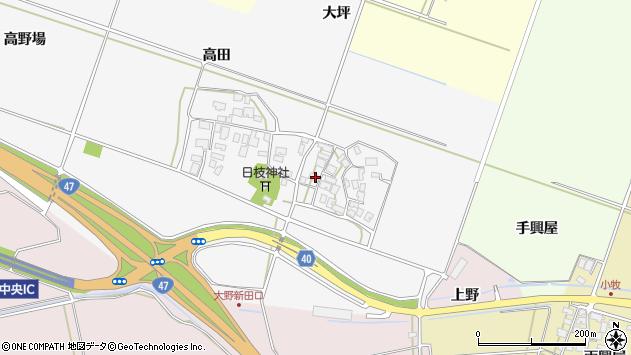 山形県酒田市大野新田村南132周辺の地図