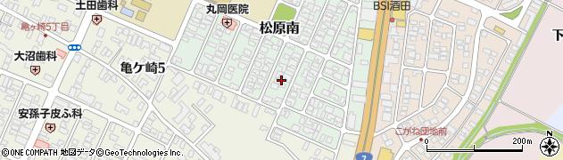 山形県酒田市松原南18周辺の地図