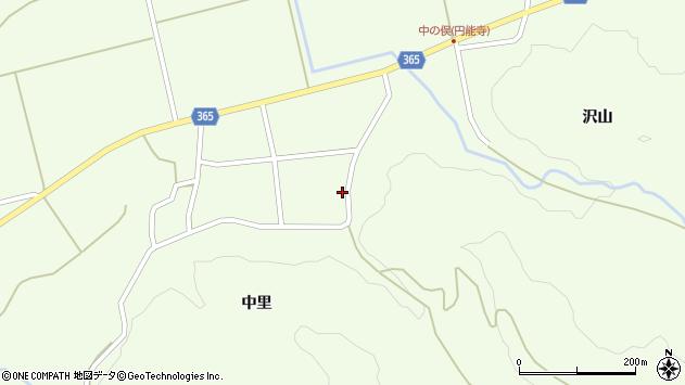 山形県酒田市中野俣中里13周辺の地図