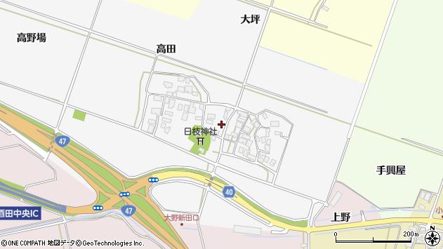 山形県酒田市大野新田村南37周辺の地図