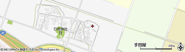 山形県酒田市大野新田村南11周辺の地図