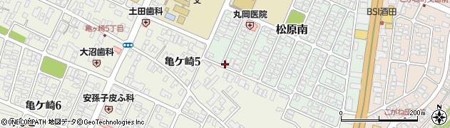 山形県酒田市松原南15周辺の地図