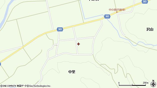 山形県酒田市中野俣中里43周辺の地図