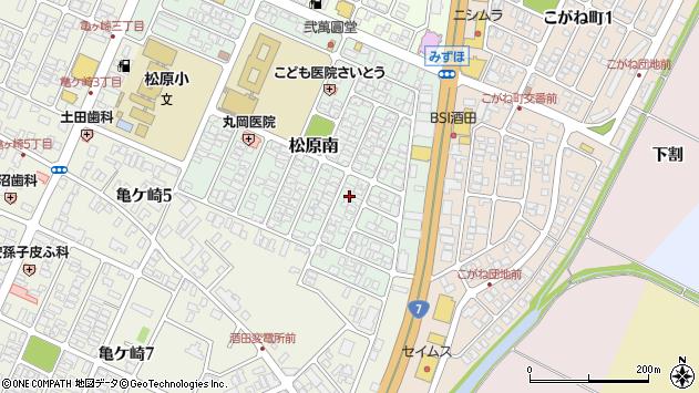 山形県酒田市松原南19周辺の地図
