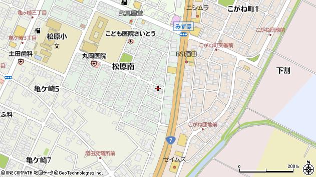 山形県酒田市松原南20周辺の地図