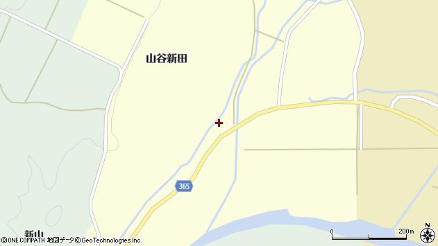 山形県酒田市山谷新田山海258周辺の地図