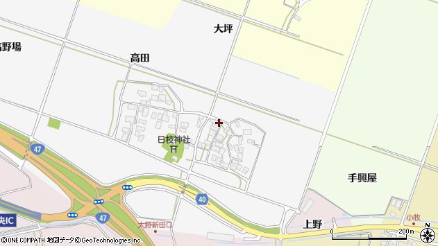 山形県酒田市大野新田村南130周辺の地図