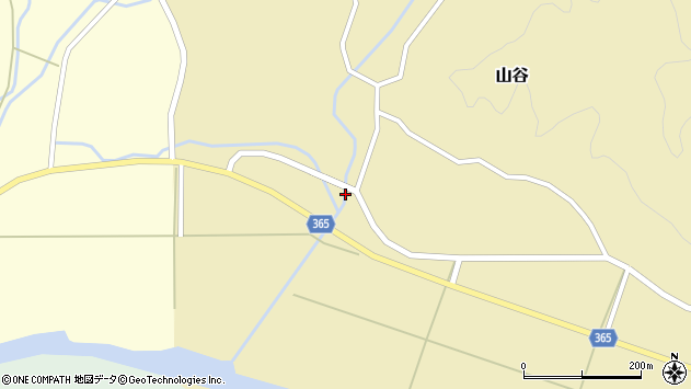 山形県酒田市山谷下川原1周辺の地図