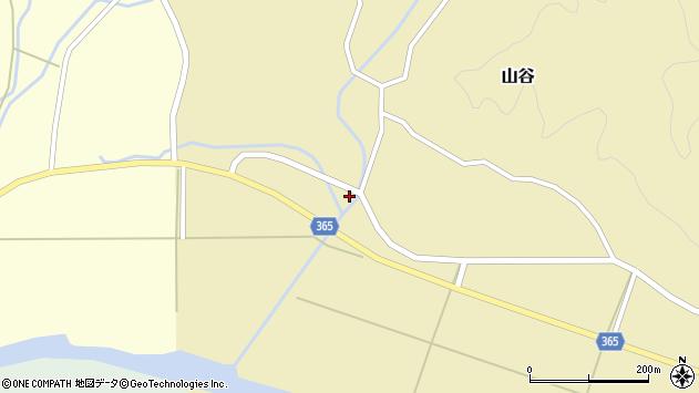 山形県酒田市山谷下川原周辺の地図