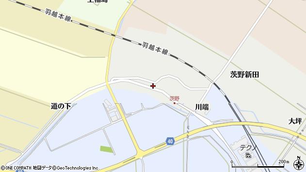 山形県酒田市茨野新田13周辺の地図