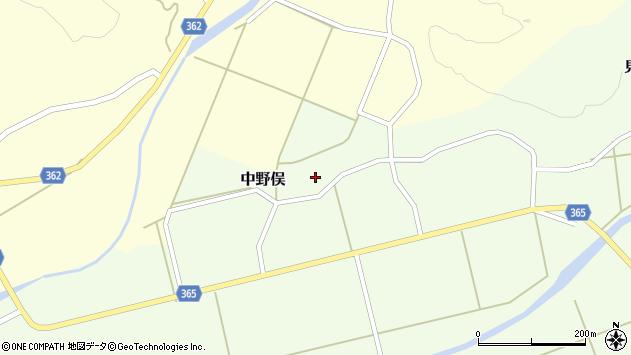 山形県酒田市中野俣備畑前153周辺の地図
