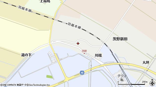 山形県酒田市茨野新田14周辺の地図